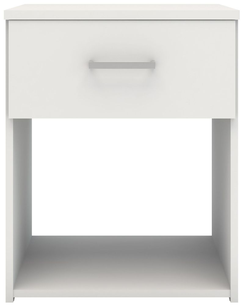 Space White Bedside Cabinet