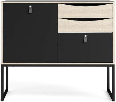 Stubbe Oak and Matt Black Sideboard