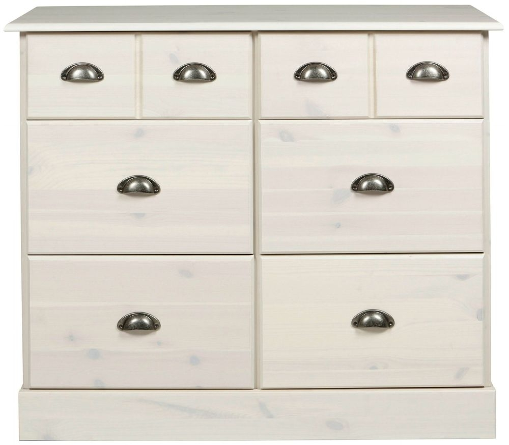 Terra 4+2 Drawer Deep Chest - Pine and Whitewash Stain