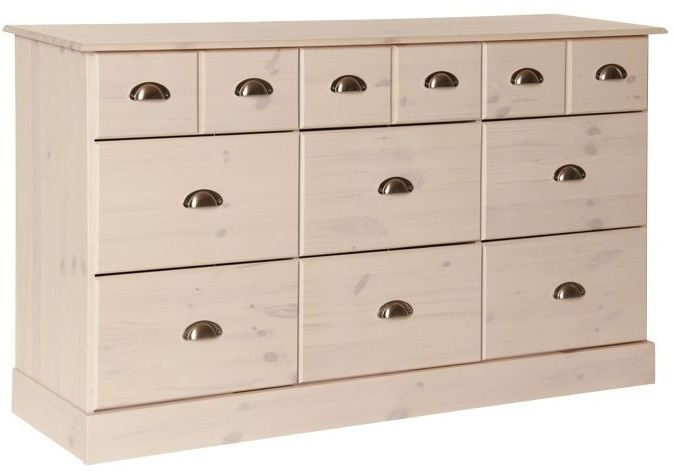Terra 6+3 Drawer Chest - Pine and Whitewash Stain