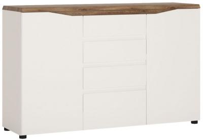 Toledo Sideboard - Oak and High Gloss White