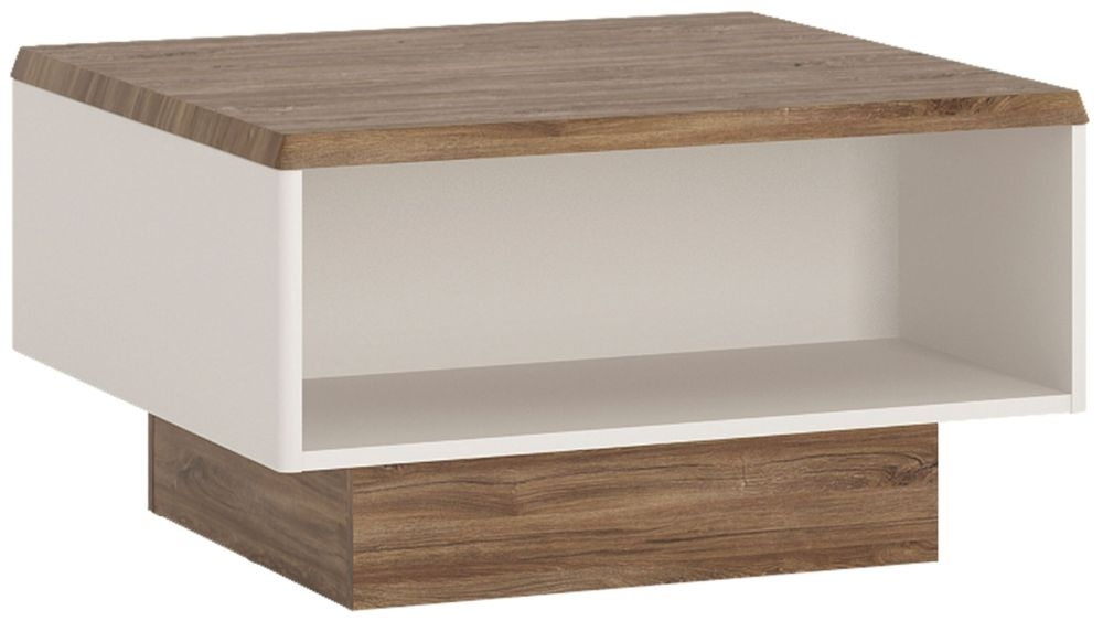 Toledo Coffee Table - Oak and High Gloss White