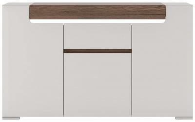 Toronto 3 Door Combi Sideboard - Sanremo Oak and High Gloss White