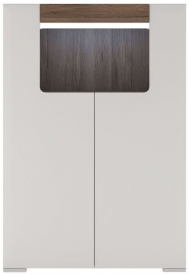 Toronto Cabinet - Sanremo Oak and High Gloss White