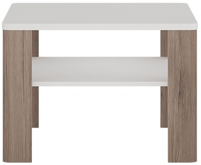Toronto Coffee Table - Sanremo Oak and High Gloss White