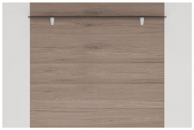 Toronto Rear Wall Fitting - Sanremo Oak and High Gloss White