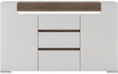 Toronto Sideboard - 2 Door 3 Drawer with Plexi Lighting