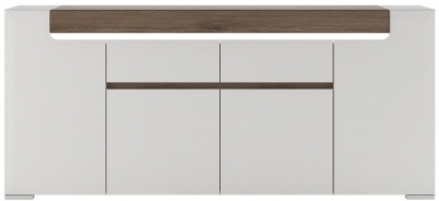 Toronto Sideboard - Wide 4 Door 2 Drawer with Plexi Lighting