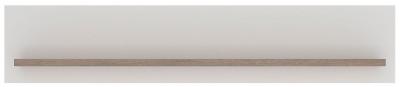 Toronto Wall Shelf - Sanremo Oak and High Gloss White