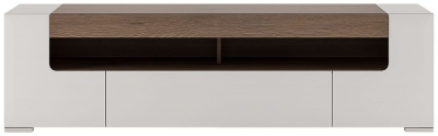 Toronto Wide TV Cabinet - Sanremo Oak and High Gloss White