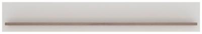 Toronto Wide Wall shelf - Sanremo Oak and High Gloss White