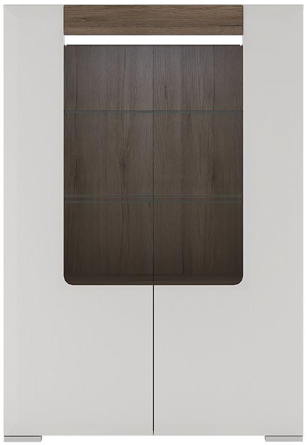 Toronto Glazed Display Cabinet - Low 2 Door with Internal Shelves and Plexi Lighting