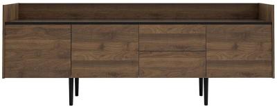 Unit Large Sideboard - Walnut and Black