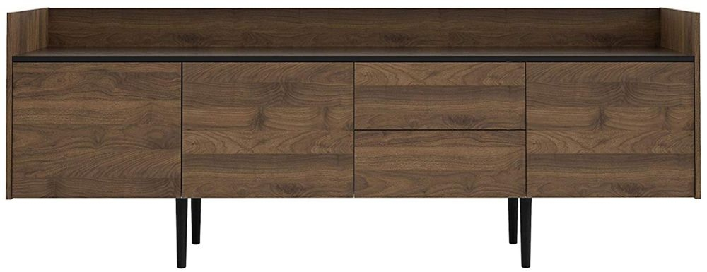 Unit Large Sideboard - Walnut and Black