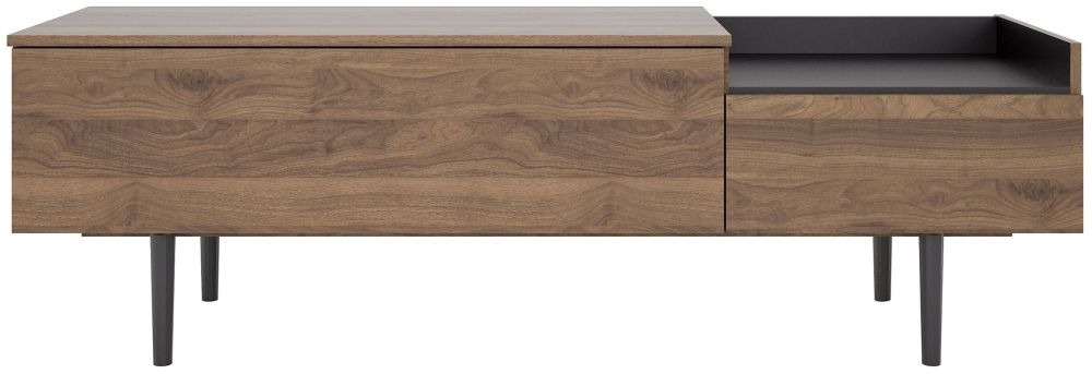 Unit Small Sideboard - Walnut and Black