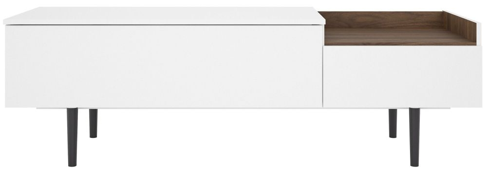 Unit Small Sideboard - White and Walnut
