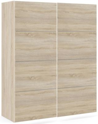 Verona 2 Door 5 Shelves Sliding Wardrobe W 120cm - Oak