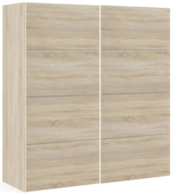 Verona 2 Door 5 Shelves Sliding Wardrobe W 180cm - Oak