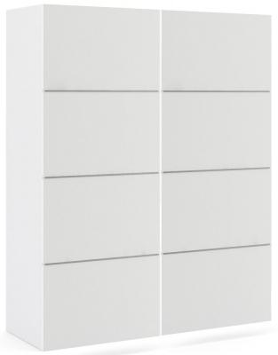 Verona 2 Door 5 Shelves Sliding Wardrobe W 120cm - White