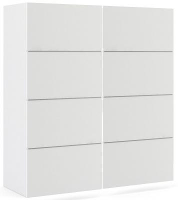 Verona 2 Door Sliding Wardrobe W 180cm - White