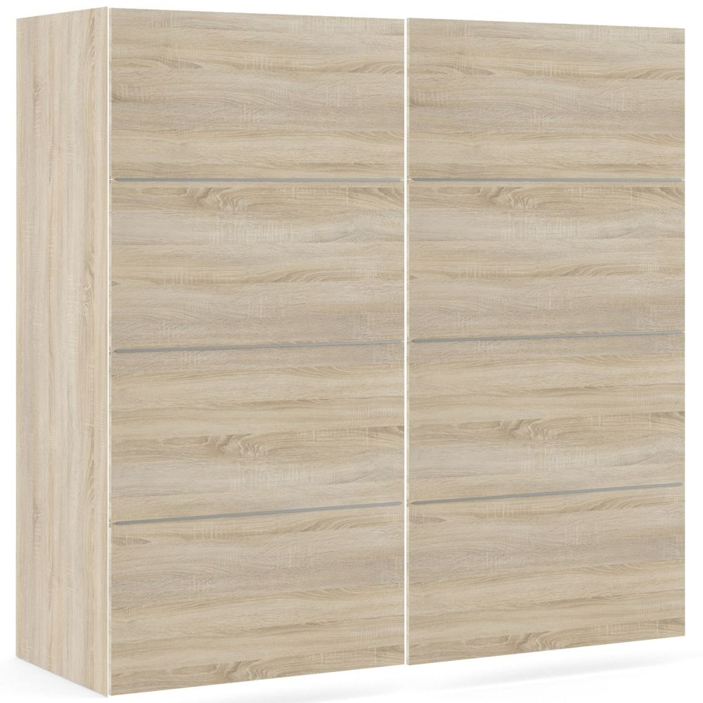 Verona 2 Sliding Door Wardrobe W 120cm - Oak