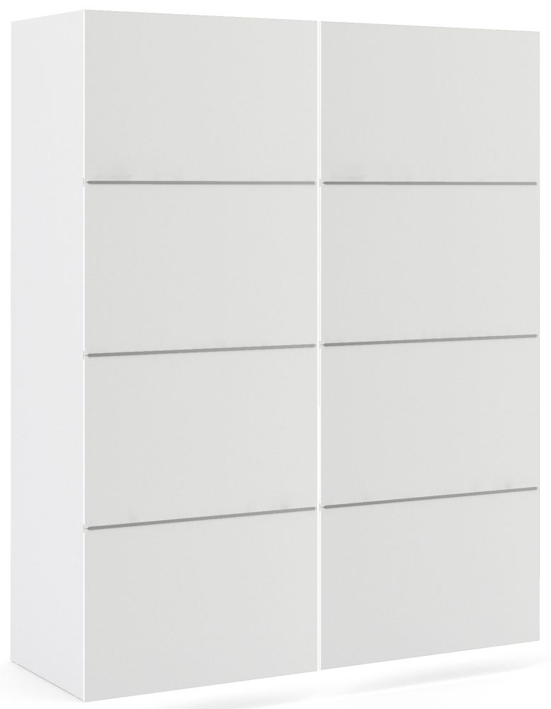 Verona 2 Door Sliding Wardrobe W 120cm - White