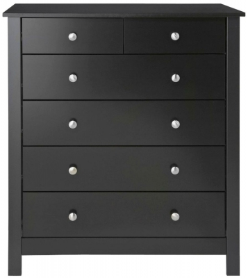 Wilton Black 4+2 Drawer Chest