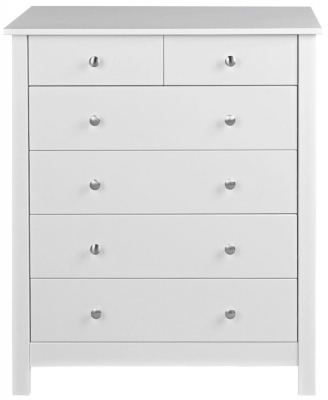 Wilton White 4+2 Drawer Chest