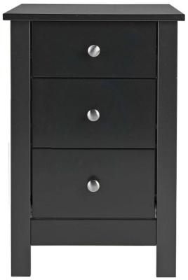 Wilton Black Bedside Cabinet