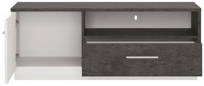 Zingaro TV Cabinet - Slate Grey and Alpine White