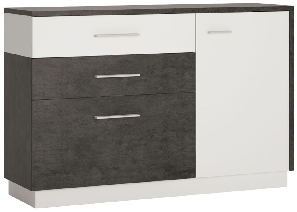Zingaro Sideboard - Slate Grey and Alpine White