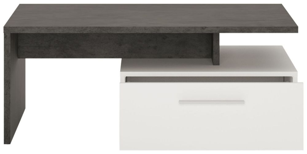 Zingaro Storage Coffee Table - Slate Grey and Alpine White