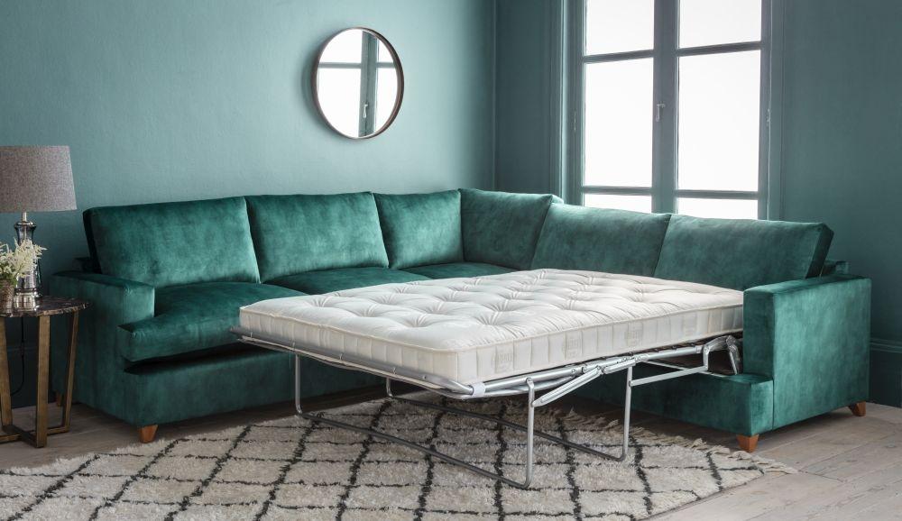 Gallery Highcliffe Fabric Corner Sofa Bed - Left Hand