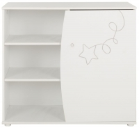 Gami Adele White Foil 1 Door Chest