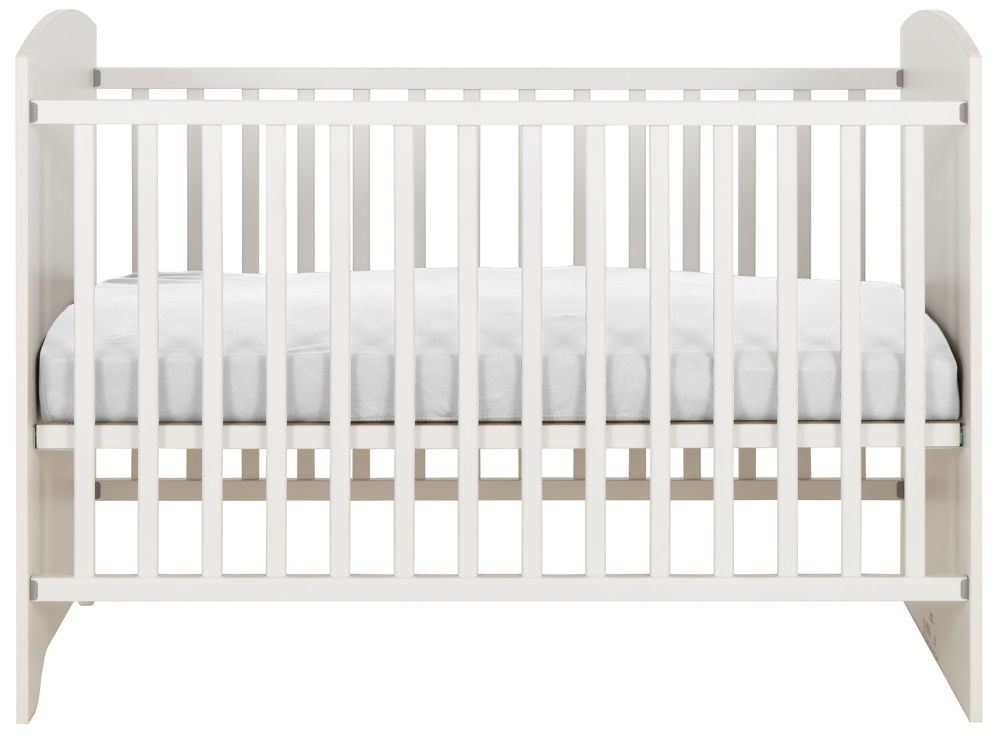 Gami Adele White Foil Cot Bed