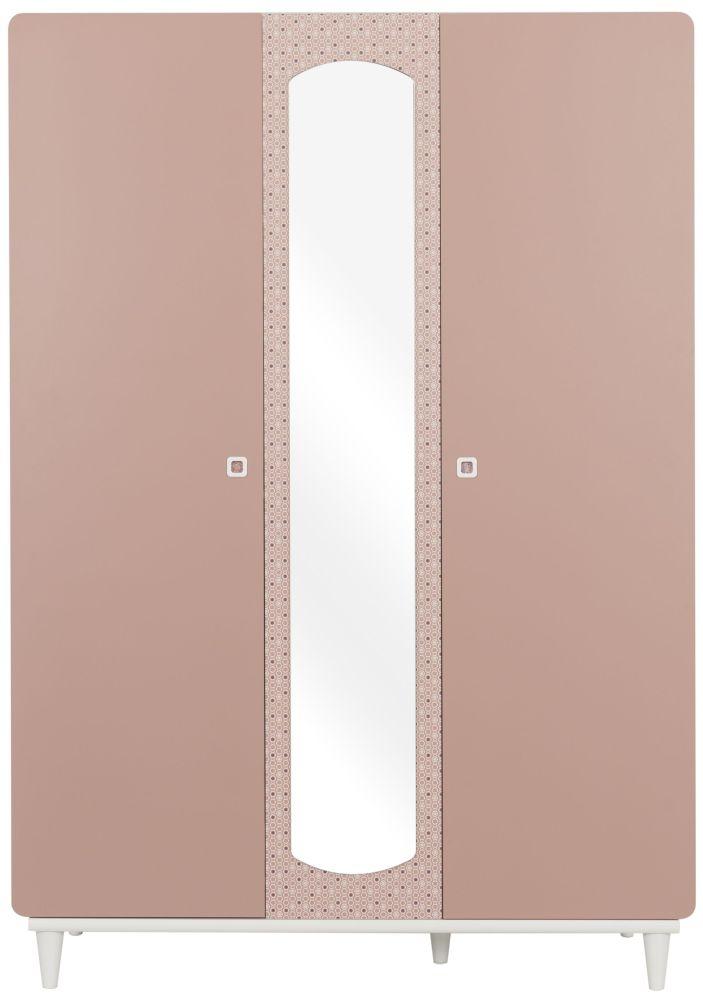 Gami April Amber Pink 3 Door Wardrobe