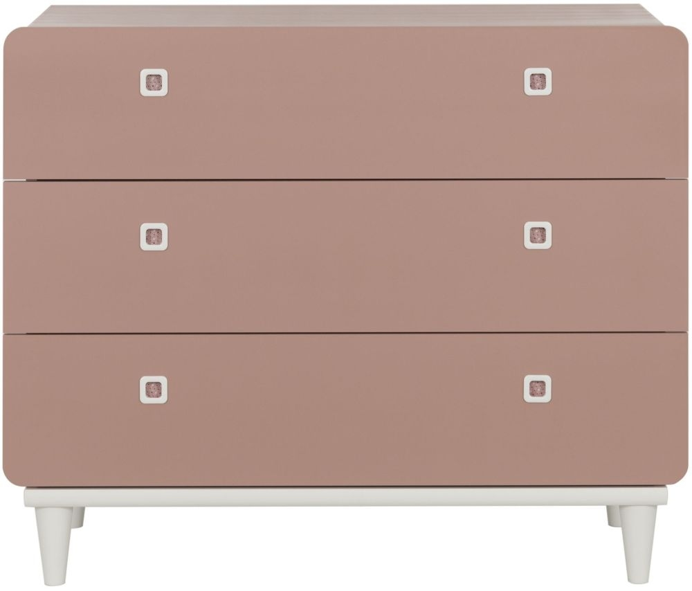 Gami April Amber Pink 3 Drawer Chest