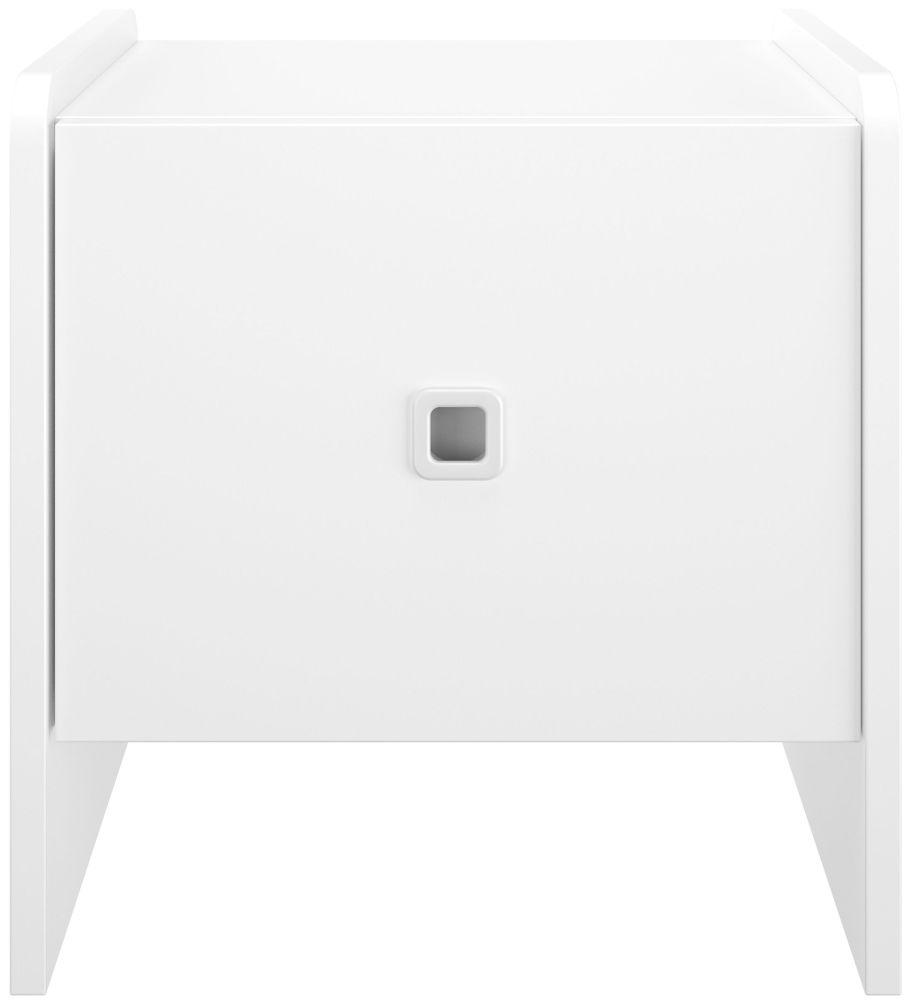 Gami April White Bedside Cabinet