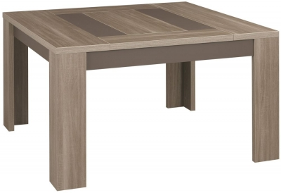 Gami Atlanta Charcoal Oak Dining Table - Square