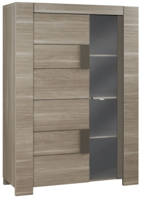 Gami Atlanta Charcoal Oak Lounge Cabinet