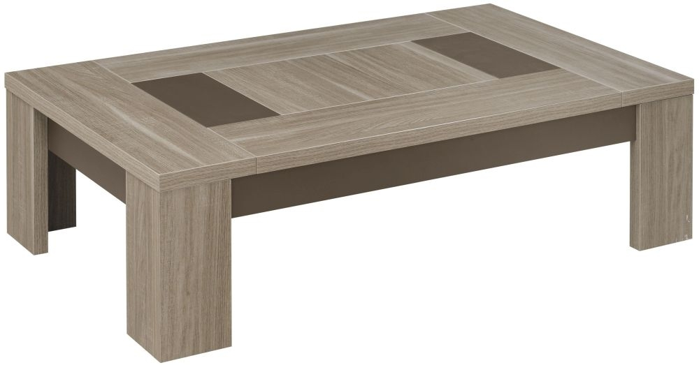 Gami Atlanta Charcoal Oak Coffee Table - Rectangular