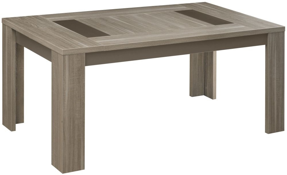 Gami Atlanta Charcoal Oak Dining Table - Rectangular