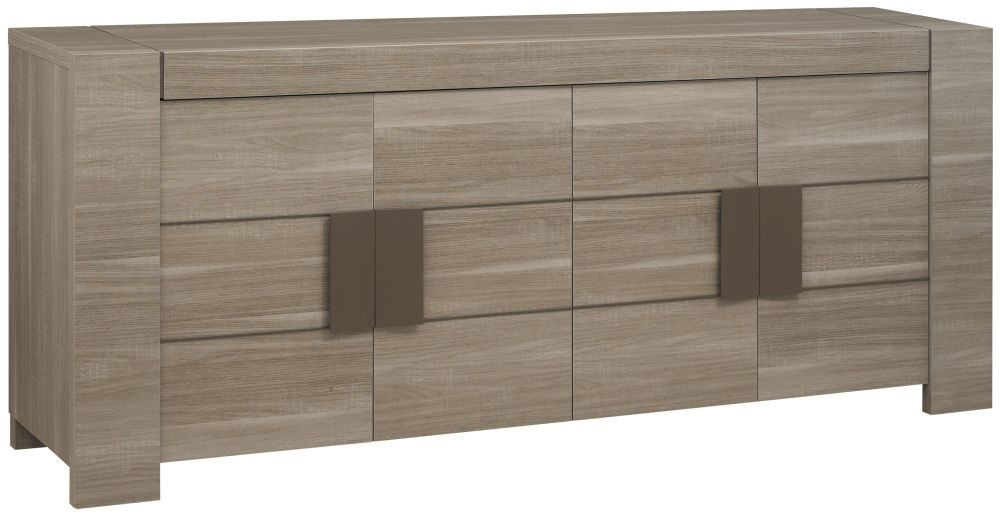Gami Atlanta Charcoal Oak Sideboard - 4 Door
