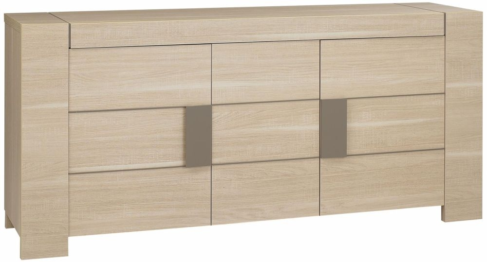 Gami Atlanta Light Oak Sideboard - 3 Door