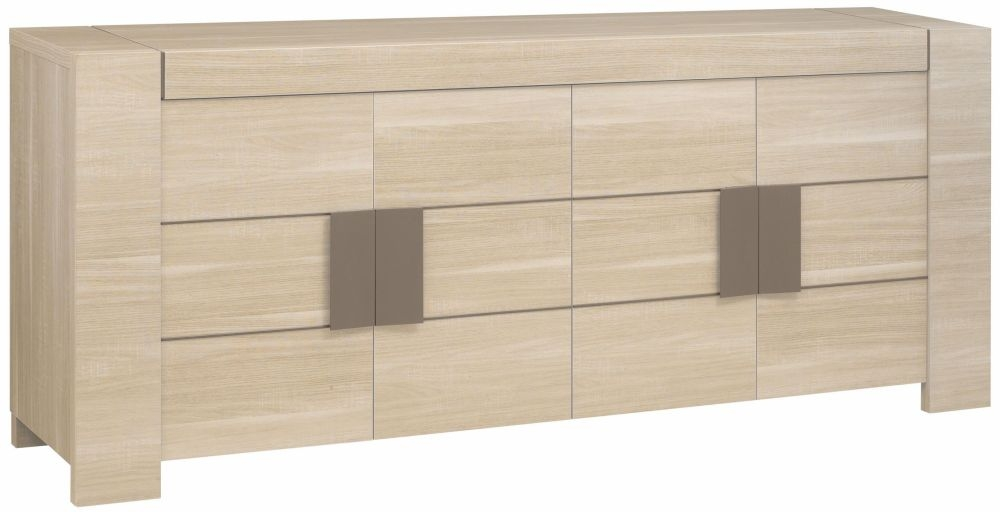 Gami Atlanta Light Oak Sideboard - 4 Door