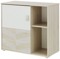 Gami Augustin White Washed Pine 1 Door Chest