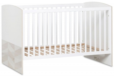 Gami Augustin White Washed Pine Baby Cot Bed