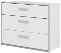 Gami Babel White Chest of Drawer - 3 Drawer
