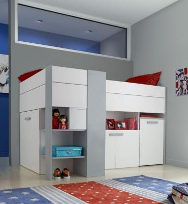 Gami Babel White Compact High Sleeper Bed