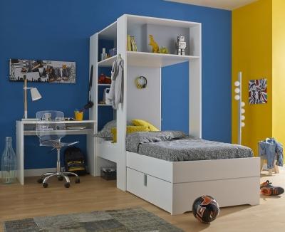 Gami Babel White Storage Bed - 3ft Single